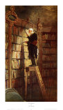 Bookworm Prints by Carl Spitzweg