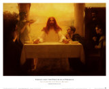 Gesù con i discepoli ad Emmaus Poster di Pascal Adolphe Jean Dagnan-Bouveret