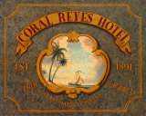 Coral Reyes Hotel Prints by Catherine Jones