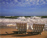 Chairs on Beach Art