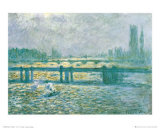 Charing Cross Bridge Affiche par Claude Monet