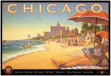 Chicago und Southern Air, Englisch Poster von Kerne Erickson