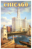 Chicago im Gegenlicht Kunst von Kerne Erickson