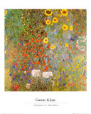 Bauerngarten mit Sonnenblumen Kunst von Gustav Klimt