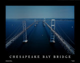 Chesapeake Bay Bridge - Virginia Poster von Mike Smith