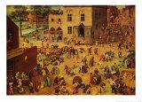 Barnlekar Poster av Pieter Bruegel the Elder