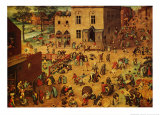 Children's Games Poster by Pieter Bruegel the Elder