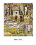 Church at Cassone sul Garda Plakater av Gustav Klimt