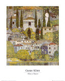 Church at Cassone sul Garda Posters av Gustav Klimt