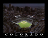 Coors Field - Denver, Colorado Print by Mike Smith