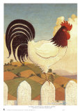 Country Crowers I Print by Robert LaDuke