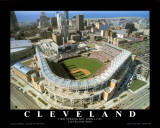 Cleveland - First Indians Game at Jacobs Field Poster von Mike Smith