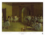 Dance Foyer at the Opera Prints by Edgar Degas