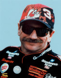 Dale Earnhardt Portrait With Tazz Hat Photo