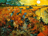 Der Rote Weingarten in Arles Poster von Vincent van Gogh
