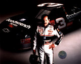 Dale Earnhardt Studio Shot With Car (Horizontal) Photo