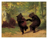 Dancing Bears Art by William H. Beard