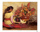 Crucita, a Taos Indian Girl Prints by Joseph Henry Sharp