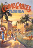 Visit Coral Gables, Florida Poster by Kerne Erickson