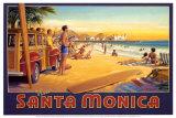 Santa Monica (Miniatur) Kunstdrucke von Kerne Erickson
