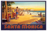 Visit Santa Monica Poster by Kerne Erickson