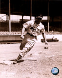 Enos Slaughter - Running bases, sepia Photo