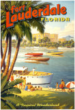 Fort Lauderdale, Florida Posters by Kerne Erickson