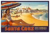Santa Cruz (Miniatur) Kunstdrucke von Kerne Erickson