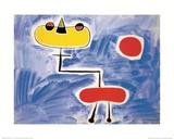 Figur vor roter Sonne Posters par Joan Miró