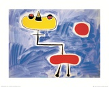 Figur Vor Roter Sonne Posters by Joan Mir&#243;