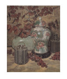 Eucalyptus with Lotus Vase Prints by Francie Botke