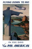 Flug nach Rio|Flying Down to Rio Poster von Paul George Lawler