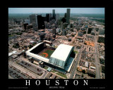 Enron Field - Houston, Texas Print by Mike Smith