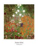 Jardin fleuri Posters par Gustav Klimt