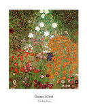Gustav Klimt - Flowery Garden Plakát