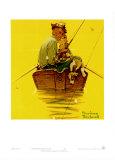 Traqueurs de poissons Affiche par Norman Rockwell