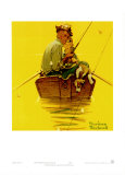 Fish Finders Print by Norman Rockwell