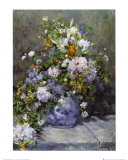 大きな花瓶の花 高品質プリント : ピエール=オーギュスト・ルノワール