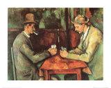 Kortspelare, ca 1890 Posters av Paul Cézanne
