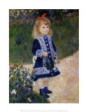 La petite fille &#224; l&#39;arrosoir Art par Pierre-Auguste Renoir