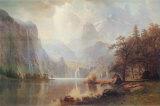 In de bergen Poster van Albert Bierstadt
