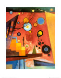 Heavy Red Art by Wassily Kandinsky