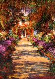 Une allée du jardin de Monet, Giverny Affiche par Claude Monet