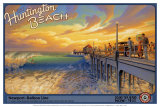 Huntington Beach Prints by Kerne Erickson