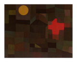 Incendio Sotto la Luna Piena Print by Paul Klee