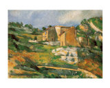 Houses at the Estaque Print by Paul Cézanne