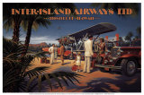 Inter-Island Airways Plakat af Kerne Erickson