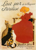 Lait Sterilise Prints by Th&#233;ophile Alexandre Steinlen