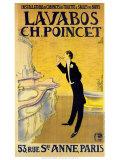 """Waschbecken """"Ch. Poincet"""" Poster"""