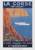 Nach Korsika mit der Yacht Kunstdruck von  Hoock